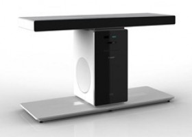 CES: Unity Home Theater System is Also an HDTV Stand
