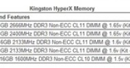 Kingston Ships Ultra-fast 2666MHz HyperX Memory to Support New Third-Generation Intel Core 'Ivy Bridge' Processors