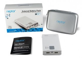 EagleTech USA Announces Neptor NP100K External Battery Pack with Dual USB Outputs