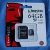 Kingston 64GB microSDXC Class 10 Memory Card Review