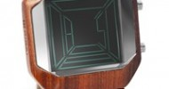 TokyoFlash Japan Launches Kisai Space Digits Laminated Wood Watch
