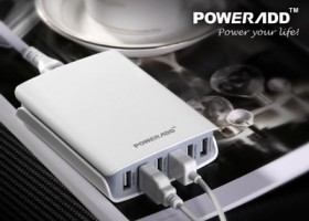 Poweradd Launches New 50Watt Desktop USB Charger