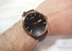 BUREI Men's Brown Calfskin Leather Watch Review @ Technogog