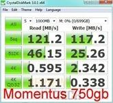momentus 750gb crystaldiskmark