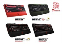 Tt eSPORTS gaming keyboard models of MEKA G1 and MEKA G-Unit with adjustable backlighting.