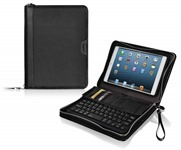 LUXA2 Zip-around iPad mini Bluetooth Keyboard Leather Case combines both function and style into one lightweight and easy-to-carry case