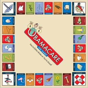 OBAMACARE -- THE GAME GAME BOARD