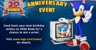 Sonic the Hedgehog Celebrates His 20th Anniversary!