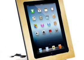 24K Gold and Platinum Framed iPad Dock Now Available