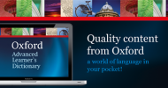 Oxford Advanced Learner's Dictionary Now Launched for Mac OS X