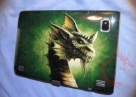 DecalGirl Acer Iconia Tab A500 Green Dragon Skin Review @ DragonSteelMods