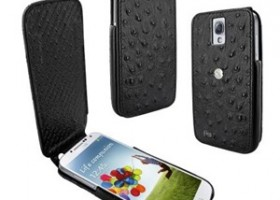 Mobile Fun to Carry Ostrich, Lizard and Crocodile Calfskin Cases for Samsung Galaxy S4