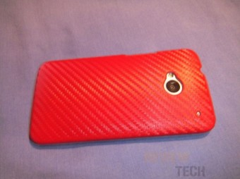 Red Carbon Fiber Leather Case for HTC One Review