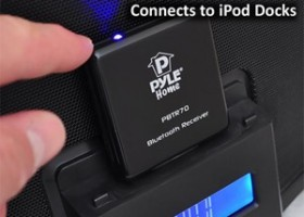 Pyle Audio BlueReach Turns Apple 30 pin Dock Into Universal Wireless Bluetooth Speaker