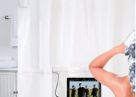 Hammacher Schlemmer Intros The iPad Musical Shower Curtain