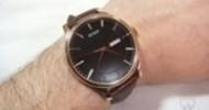 BUREI Men's Brown Calfskin Leather Watch Review @ Technogog