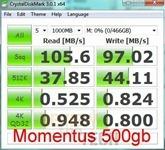 momentus 500gb crystaldiskmark