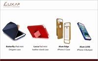 LUXA2 iPad mini and iPhone 5 protective and stylish accessories.