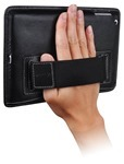 LUXA2 MiniCinema iPad Mini Case has an adjustable elastic strap on the back of the case as a convenient hand grip to provide extra security