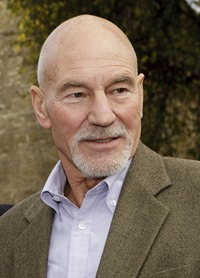 Patrick Stewart opens new weather centre John Clare Cottage Helpston and has a tour of the village