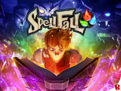 Spellfall title screen