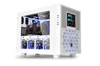 Thermaltake Core X9 Snow Edition is an E-ATX cube case offering endless stackable capacity and expandibility.